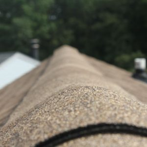 A Roof-long Ridge Vent At Eye Level
