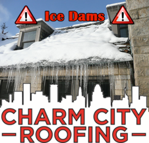 Ice Dam Weighing Down Roof