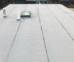 A Picture of a Baltimore Area Residential with Granulated Torch-Down Flat Roof