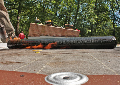 Roll of Flat Roof Rubber Torch Down Roofing