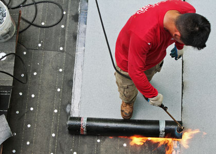 Charm City Roofing Flat Roof Replacement Rubber Torch Down Roofing Baltimore