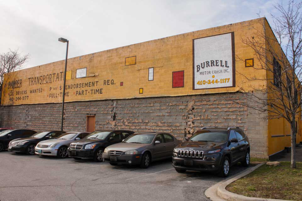 Burrell Motor Coach Building Central Park Heights Baltimore