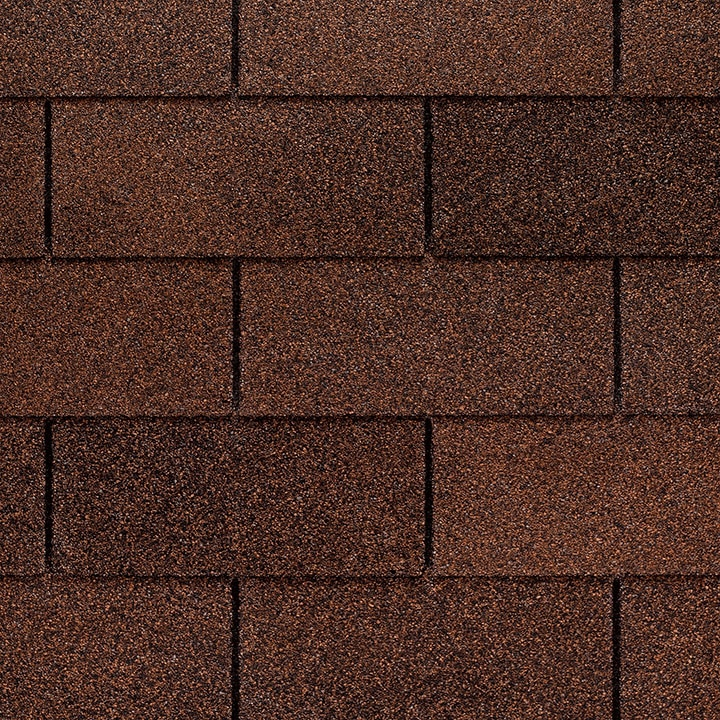 GAF Royal Sovereign 3 tab strip shingle - Autumn Brown Close Up