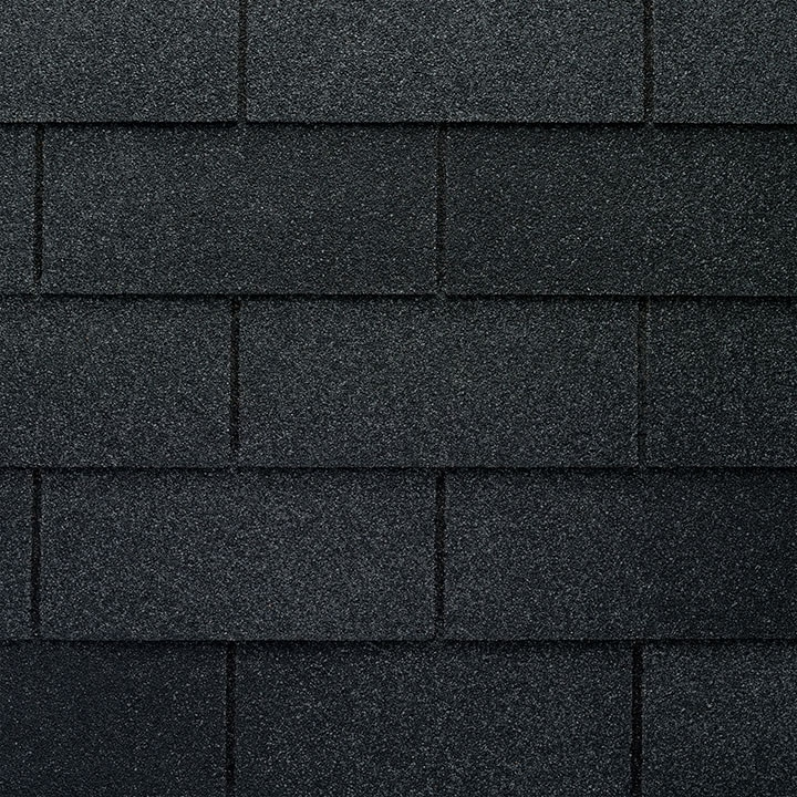 GAF Royal Sovereign 3 Tab Strip Shingle – Charcoal Close Up