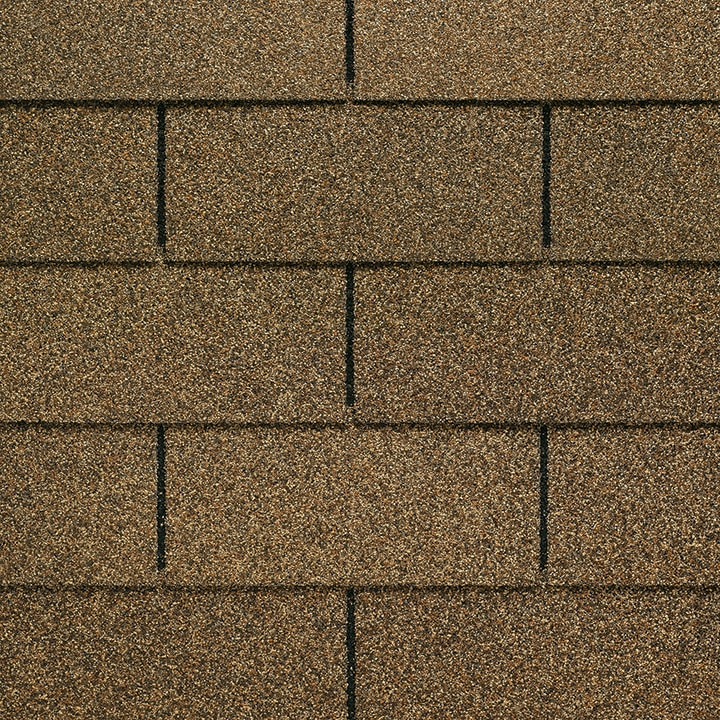 GAF Royal Sovereign 3 tab strip shingle - Golden Cedar Close Up