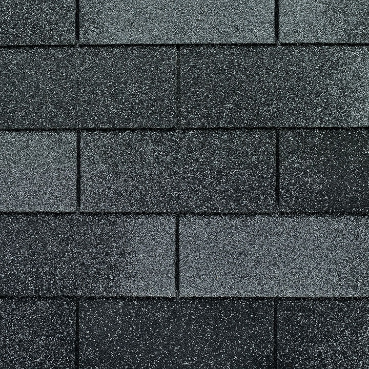 GAF Royal Sovereign 3 tab strip shingle - Nickel Gray Close Up