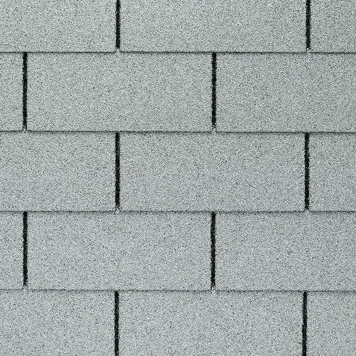 GAF Royal Sovereign 3 tab strip shingle -White Close Up