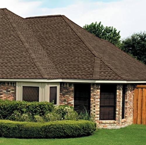 GAF Timberline HD Shingle Barkwood Color On House
