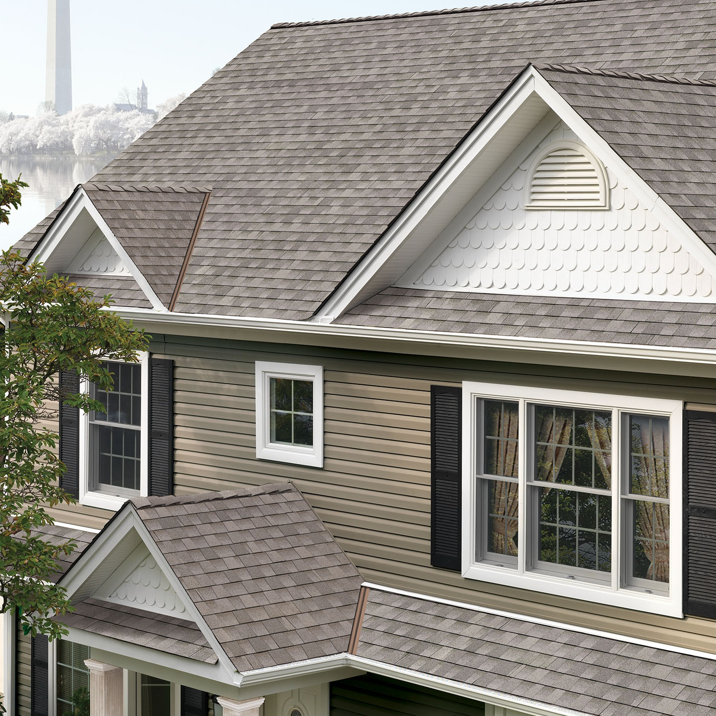 GAF TImberline HD Shingles - Fox Hollow Gray