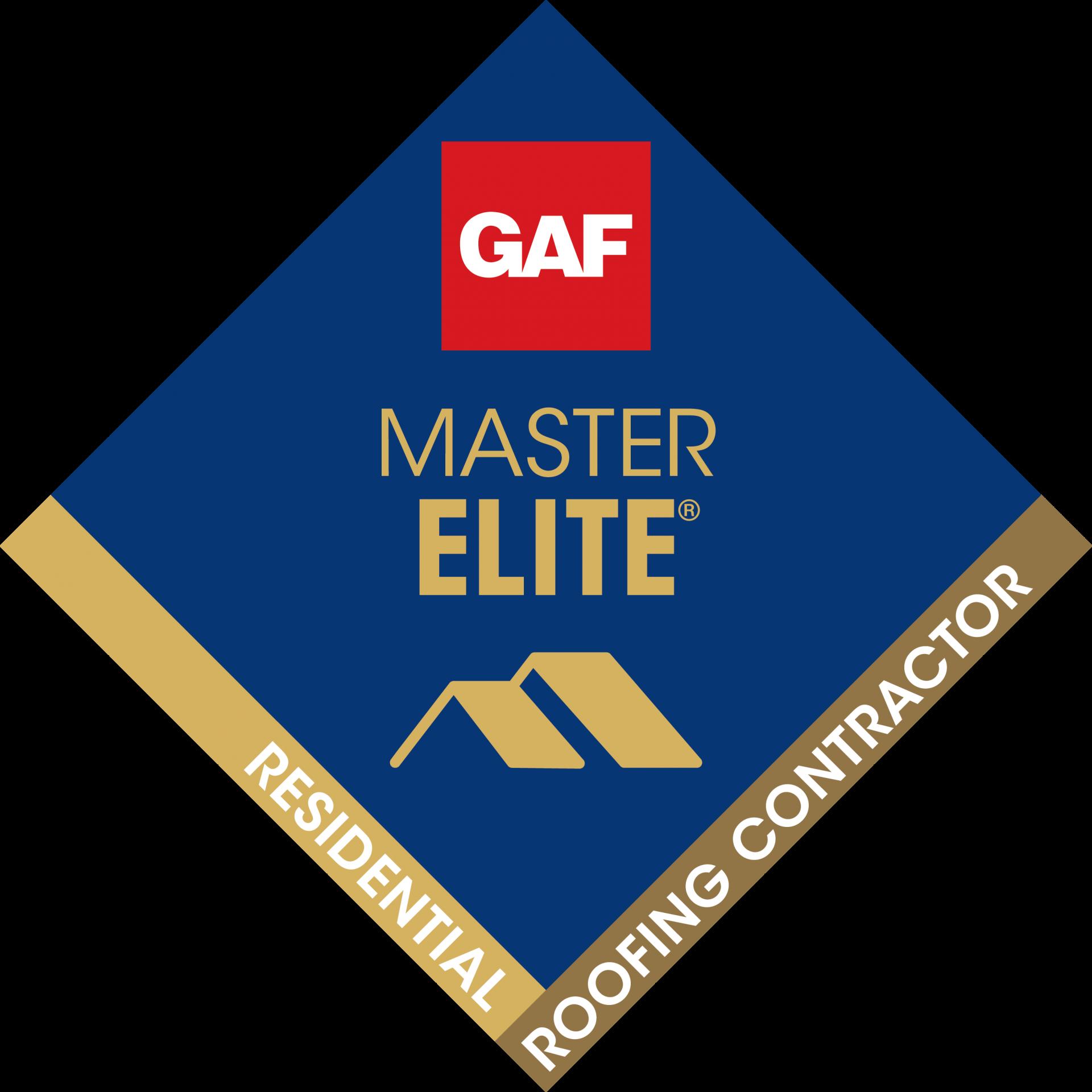 GAF Master Elite Residential Roofing Contractor Award